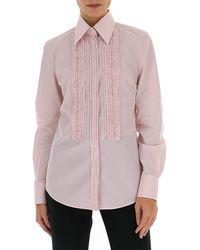 Dolce & Gabbana - Ruffled Panel Shirt - Lyst