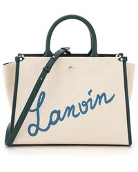 Lanvin In&out Cabas Bag With Logo Embroidery - Multicolour
