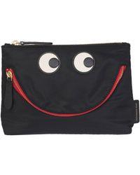 Anya Hindmarch Happy Eyes Pouch - Black