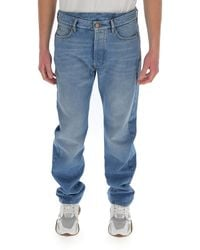 Balenciaga Flatground Slim Leg Jeans - Blue