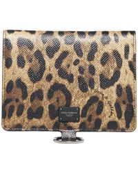 Dolce & Gabbana Leopard Print Crossbody Bag - Multicolour