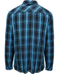Marcelo Burlon Checked Shirt - Blue