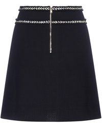 Pinko Tweed A-line Mini Skirt - Black