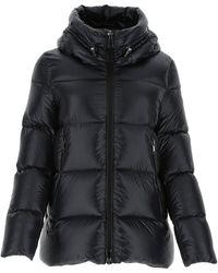 Moncler Hooded Padded Down Jacket - Black