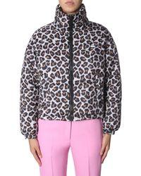 MSGM Leopard Print Down Jacket - Multicolour