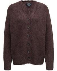 A.P.C. Wool Cardigan - Brown