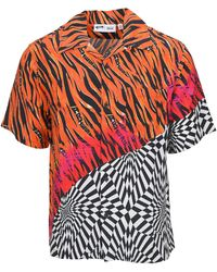 Vans X Aries Mix-print Short-sleeve Shirt - Red
