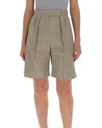 Max Mara Strap Tailored Shorts - Natural