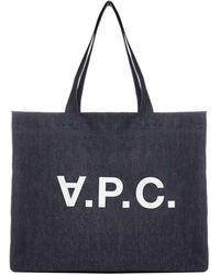 A.P.C. Daniela Denim Tote Bag - Blue