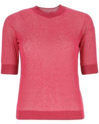 Max Mara Studio Short Sleeve Top - Pink