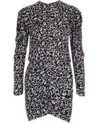 Étoile Isabel Marant Selwin Printed Mini Dress - Black