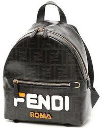 Fendi - Black Leather Backpack - Lyst