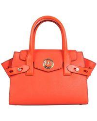 MICHAEL Michael Kors Carmen Small Belted Tote Bag - Orange