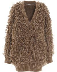 Stella McCartney V-neck Knit Cardigan - Brown