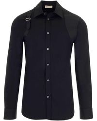 Alexander McQueen Harness Shirt - Black