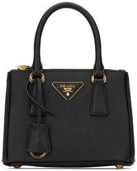 Prada Mini Galleria Tote Bag - Black