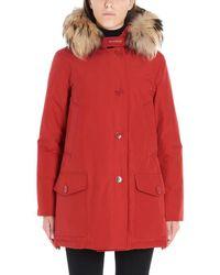 Woolrich Arctic Fur Trim Parka - Red