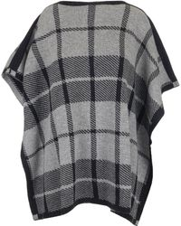 Woolrich - Checked Poncho Style Top - Lyst