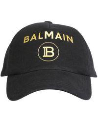 Balmain Baseball Hat - Black