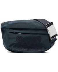 KENZO Canvas Kampus Tiger Belt Bag - Blue