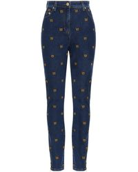 Moschino Other Materials Jeans - Blue