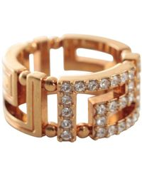 Versace Greca Ring - Metallic