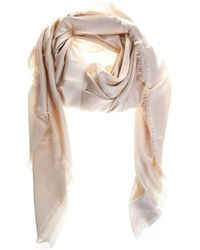 Fendi Flowers Scarf - Natural