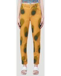 Eckhaus Latta El Sprayed Effect Straight-leg Jeans - Yellow