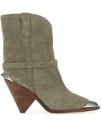 Étoile Isabel Marant Isabel Marant Lambsy Heeled Boots - Green