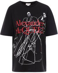 Alexander McQueen Logo Print T-shirt - Black