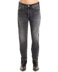 Golden Goose Deluxe Brand Side Band Skinny Jeans - Grey