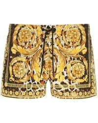 Versace Wild Baroque Print Swim Trunks - Yellow