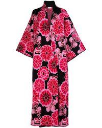 Balenciaga Floral Motif Kimono - Red