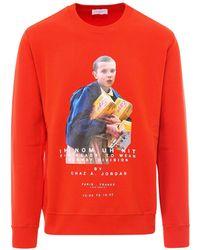 ih nom uh nit Stranger Things Printed Sweatshirt - Red