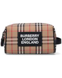 Burberry Vintage Check Toiletry Bag - Multicolor