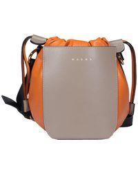 Marni Gusset Bucket Bag - Multicolour