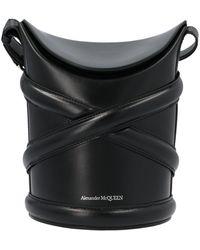Alexander McQueen The Small Curve Bucket Bag - Black