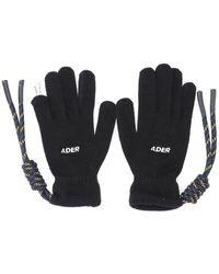 ADER error Crumple Gloves - Black