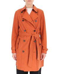 DESA NINETEENSEVENTYTWO Belted Trench Coat - Orange