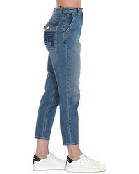Elisabetta Franchi Logo Embroidered Jeans - Blue