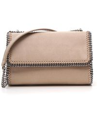 Lyst - Stella McCartney Falabella Mini Faux-Suede Cross-Body Bag in ... a2c7ffafb5ad9