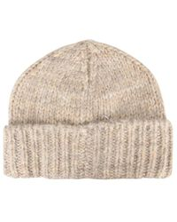 Maison Margiela Knitted Hat - Natural