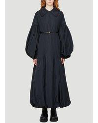 Jil Sander Puff-sleeve Maxi Dress - Black