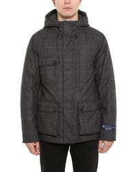 Woolrich Plaid Down Jacket - Gray