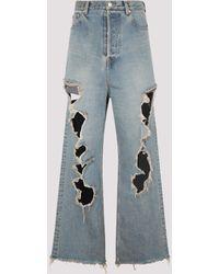 Balenciaga Destroyed Baggy Pants M - Blue