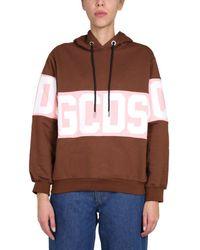 Gcds Cc94w02100214 Sweatshirt - Brown