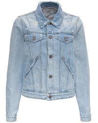 Givenchy Denim Jacket With Back Logo Print - Blue