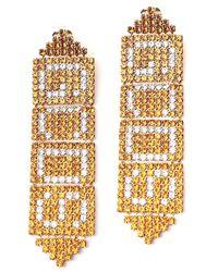 Gcds Logo Chain Link Drop Earrings - Metallic