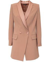 Elisabetta Franchi Double Breasted Blazer Dress - Pink