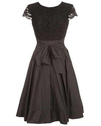 Lauren by Ralph Lauren A-line Midi Dress - Black